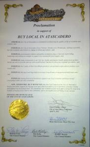 Atascadero Buy Local Proclamation