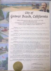 Grover Beach Buy Local Proclamation