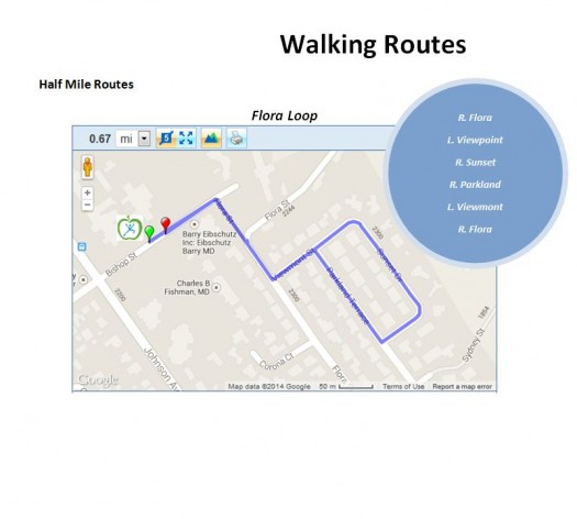 Half Mile Walking Route