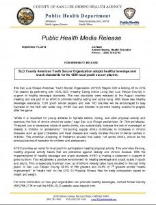 AYSO Press Release