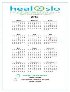 2015 meeting calendar