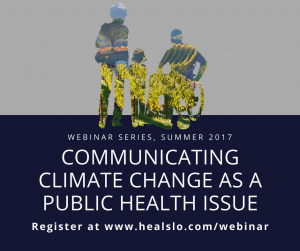 Communicating Climate Change as a Public Health Issue Facebook