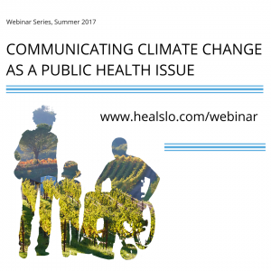 Communicating Climate Change as a Public Health Issue Instagram